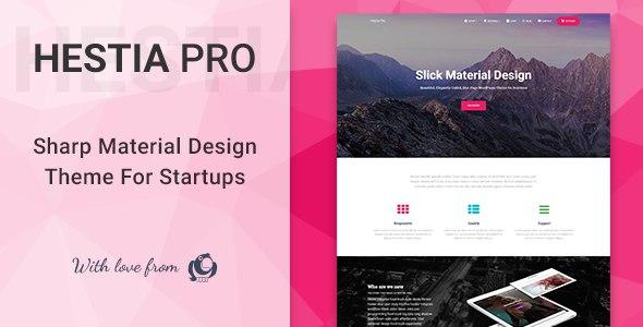 [Download] Hestia Pro - Sharp Material Design Theme For Startups